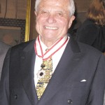 Clark with Medal