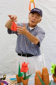 Origami Festival at Miller Japanese Garden, Long Beach, July 11