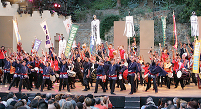 Innovative American taiko group to celebrate 10th anniversary at Ford Amphitheatre, July 10, 11