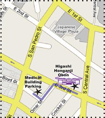 HIgashi Obon Parking Map