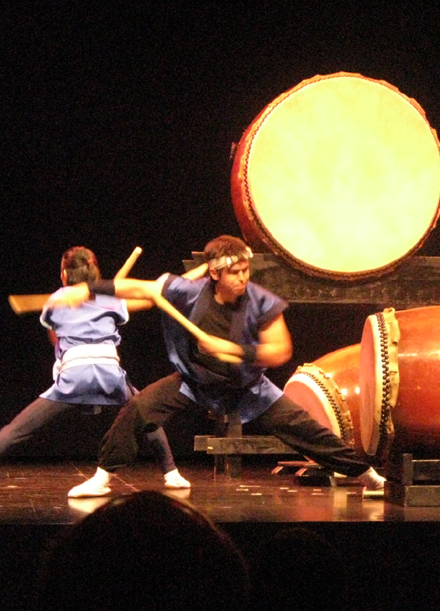 Taiko performance at Norton Simon Museum, July 16