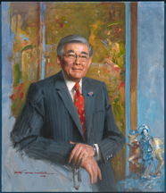 Norman Mineta's portrait installed at the Smithsonian