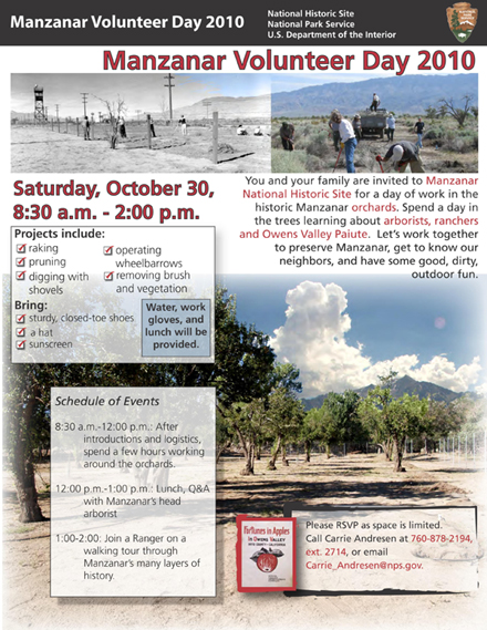 Manzanar National Historic Site: Volunteer Day, Oct 30