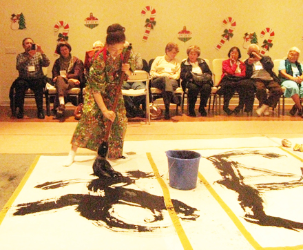 Lecture Note: Modern Calligraphy Demonstration by Isa Hirano –  December 7, 2010