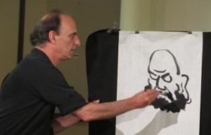 LACMA Zen painting workshop