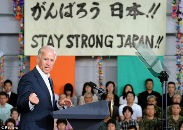 VP Biden Sendai Airport