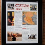 Cultural News for iPad 2011 Dec Front Page