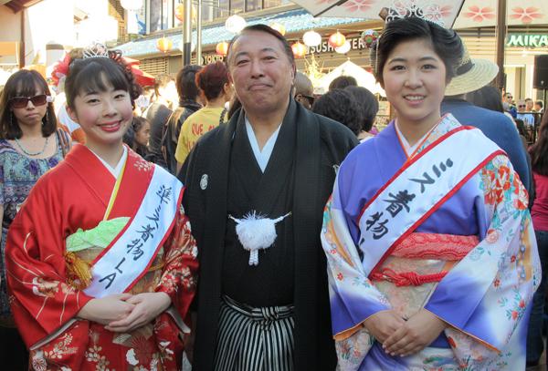 Miss Kimono LA Winners and Mr Suio