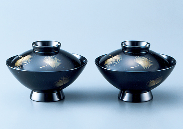 20130604 Handcraft Wajima lacquer Two bowls for soup
