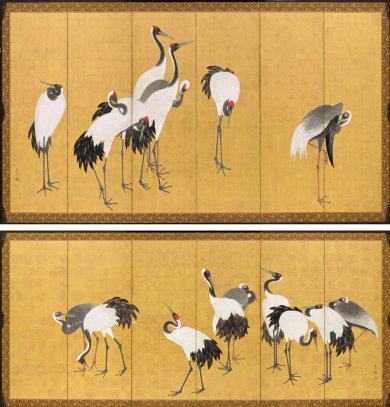 LACMA Okyo Cranes