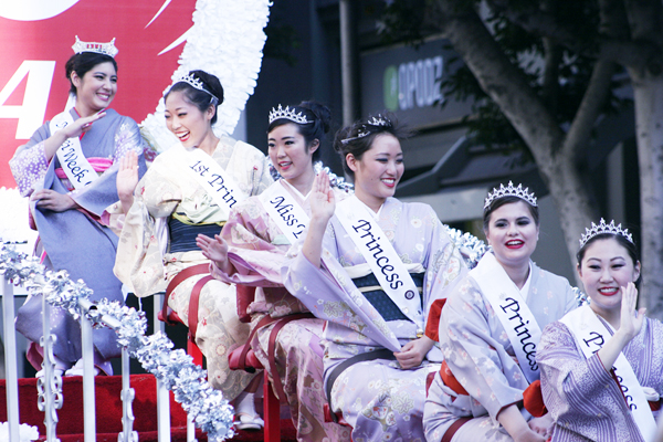 Nisei Week 2014 Queen and Court photo by Ueda