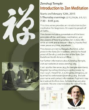 20150123 Zenshuji IntroZen 15 Feb