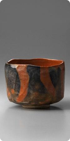 Image credit: Kakunyu (Raku XIV), Japan, 1918-1980, Tea Bowl named 'Juei', 1975, Red Raku ware; glazed ceramic, 3 7/8 x 4 5/8 x 4 5/8 in. (9.7 x 11.7 cm), Raku Museum, Photo: Takashi Hatakeyama
