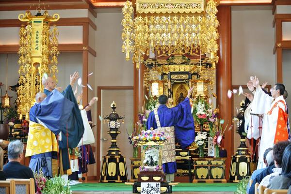 Hanamatsuri at a Buddhist temple in  Little Tokyo