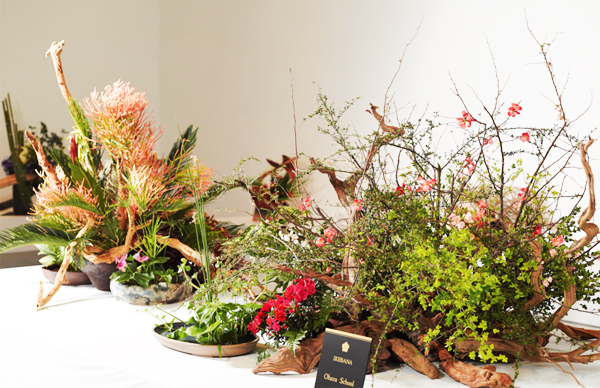 Ikebana display by Ohara School