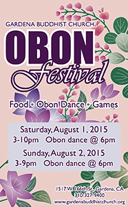 Gardena Buddhist Church 2015 Obon Festival