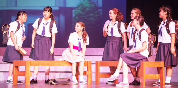 A Hiroshima atomic bombing theme musical is performed by children cast from Hawaii. (Courtesy of Ohana Arts Festival and School, Oafu, Hawaii)