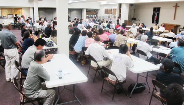 A meeting at Centenary United Methodist Church in Little Tokyo (Cultural News Photo)