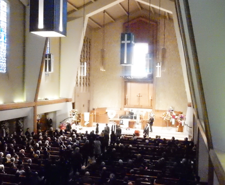 The funeral of Dr. Terasaki at First United Methodist Church of Santa Monica (Cultural News Photo)