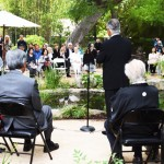Over 100 guests honor a sapling planting ceremony at Storrier Stearn garden on May 8. (Photo by Richard Fukuhara)