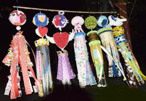 Winning pieces of the 2015 Tanabata Contest. (Photo by Richard Fukuhara)