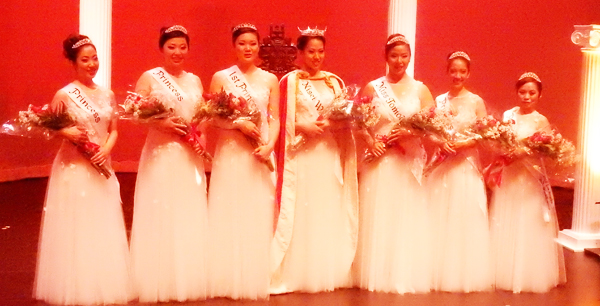 The 2016 Nisei Week Queen and Court were selected on Aug. 13 evening at the Aratani Theatre. (Cultural News Photo)