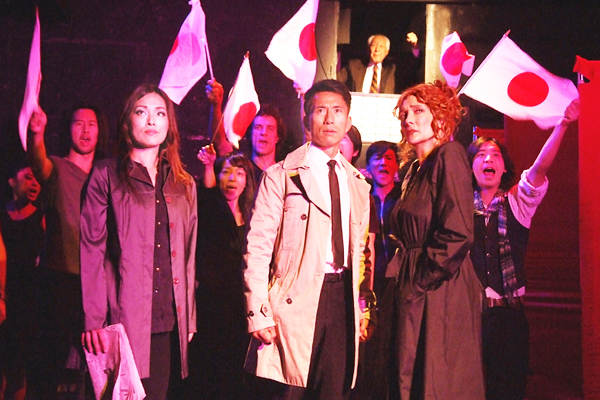 """A scene from """"Blood,"""" from left, Kazumi Aihara, James Kyson, Glenne Headly. (Photo by Ed Krieger)"""