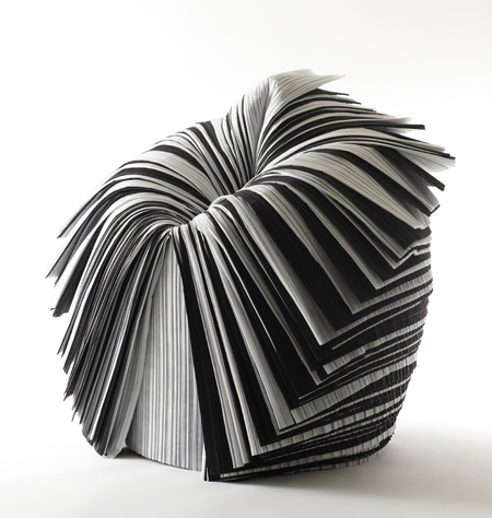 Cabbage Chair (2008) Resin impregnasted paper. Designed by Nendo, Tokyo (2002 – present) Purchased with funds contributed by the Young Friends of the Philadelphia Museum of Art. Photograph courtesy of Friedman Benda