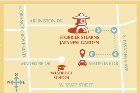 Parking map of the Storrier Stearns