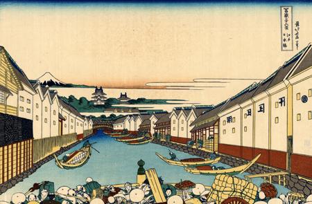 Nihonbashi by Hokusai