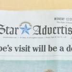 Honolulu Star Advertiser PM Abe