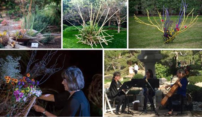 20170118 Phoenix Japanese Garden Ikebana Exhibit