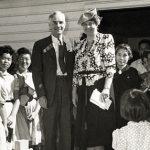 Eleanor Roosevelt at Gila River camp