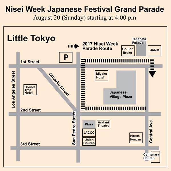 Nisei Week 2017 Parade Map