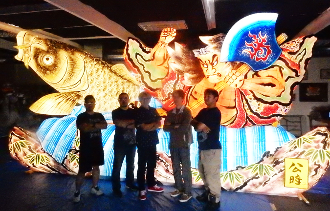 2017 new designed gigantic nebuta float to march in hollywood christmas parade for 35 miles nov 26