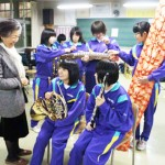 Unoura Masako and Local Students