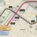 LA Downtown Regional Connector Transit Project Map